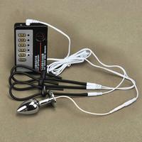 Kleine Größe Anal Plug Penis Ring Elektroschock Host und Kabel Elektroschock Sexspielzeug Elektrostimulation Sexspielzeug für Männer