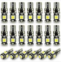 100 adet beyaz oto takoz T10 smd canbus 5smd 5 smd T10 LED canbus araba led T10 canbus w5w 194 hata ücretsiz otomotiv ışık lambası