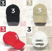 Embroidered chance the rapper 3 Hat Black Baseball Cap Fashi...