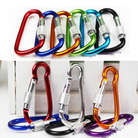 16g Large Locking Carabiners Screw Lock Hook Buckle Padlock for Hiking Camping Outdoor climbing button carabiner Gourd shape D Shape hooks