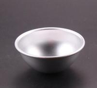 1000 pz / lotto, 3 # lega di Alluminio Shallow semicerchio forma torta stampo decorazione di una torta strumento budino muffa uovo crostata