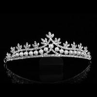 2017 новый роскошный Кристалл Жемчужина невесты Корона аксессуары для волос горячий продавать свадьба тиара оголовье женская корона волос ювелирные изделия головные уборы