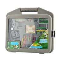 Freeshipping Novo Durável 300X-600X-1200X Metal Body Beginner Biológico Microscópio Zoom Kit Para Crianças Estudantes Presente