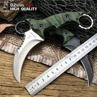 Ny Strider D2 Steel Fixed Blade Kniv Tactical Karambit Utility Camping Jaktknivar G10 Survival Kniv 60hrc EDC Tools LCM66