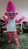ohlees real picture Nuevo Trolls Mascot Costume poppy branch Parade Quality Payasos Halloween party activity Fancy Outfit