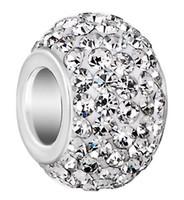 50 adet / grup 10mm * 12mm Beyaz karışık renk s64323 Gümüş Kaplama reçine Çekirdek Büyük Delik Kristal Avrupa Boncuk, Gevşek Boncuk Bilezik Bulguları.
