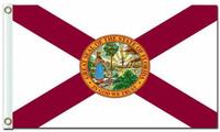 Landesflagge von Florida Amerikanische Flagge Us Banner Horizontal Design 100D 3x5ft Polyester Flagge mit zwei Ösen