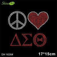 New Arrival. Free shipping Hot Sale Iron on Peace Love AEO Greek Letter  Rhinestone Transfer ... 3bc94dd919e9
