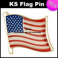 Distintivo 10pcs della bandiera del distintivo della bandiera di USA molto trasporto libero KS-0121