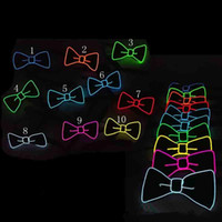 Coole LED Fliege Glowing Neck Tie DJ Bar Club Abend Party Halloween Festival Fliege EL Wire Leuchten