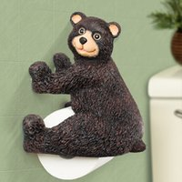 Luxury Handmade Resin Bear Toilet Roll Paper Holder Wall Mou...
