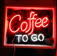 "17"" x14"" COFFEE TO GO CAFE OPEN Neon Sign Bar Wall ..."