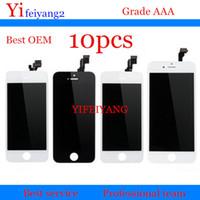10pcs mejor pantalla LCD del OEM con la asamblea del digitizador de la pantalla táctil para el iPhone 5 5C 5S 6 más la exhibición del LCD de DHL el ccsme