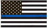 Sottile linea blu bandiera della polizia americana 3 da 5 piedi bandiera con occhielli 4 tipi DHL Free Blue Line USA bandiere 3 da 5 piedi rosso, bianco, nero