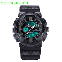 2017 neue Mode Sanda Marke Bunte Digitale Outdoor Sport Uhr Wasserdichte Anti-Shock Luxus Led Digital Chrono Relogio Masculino