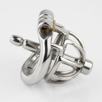 Stainless Steel Stealth Lock Male Chastity Device With Cathe...