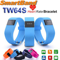 Fitbit TW64S Smart Brazalete con Heart RateTracker Impermeable Bluetooth 4.0 Sports Wristband Smartband para IOS Android con paquete OM-TW64S