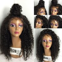 100% Virgin Lace Front Human Hair Wigs Baby Hair Pre Plucked...