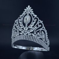 Pageant Crowns Rhinestone Crystal Silver Miss Beauty Queen B...