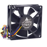 бесплатная доставка оригинальный Delta AUB0812VH -SP00 DC 12 в 0.41 A PWM интеллектуальный контроль температуры шасси вентилятор