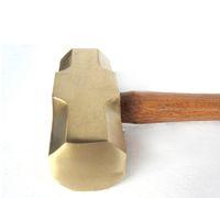 1,4 kg / 3lb ottone Sledge Hammer, martello non scintille, esplosione strumento