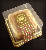 50 Clear Gold Tray Cake Container for Bakery Gift Muffin Moo...