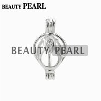 5 Pieces Pearl Cage Pendant Flower Zircon Charm Pick Pearl 9...