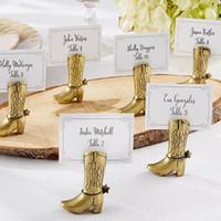 Western Country Cowboy Boot Place Tarjetas Titulares de la boda Decoración Regalos Fiesta Mesa Suministros Bulk