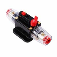 Interruptor de 12V DC 20A 30A 40A 50A 60A 80A 100A 150A Reiniciar Circuito fusibles reversible conveniente el uso fácil para el coche