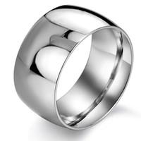 Горячая Продажа Кольца Из Нержавеющей Стали Серебро Мода Простой Широкий Палец Кольца Для Мужчин Мода Мужские Ювелирные Изделия Обручальное Кольцо Новый