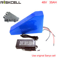 48V 35AH 2000W перезаряжаемая литиевая батарея 48v ebike треугольник аккумулятор для 48v bafang bbs02 bbshd mid-drive двигатель для Sanyo Cell