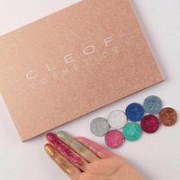 Yeni Sıcak Makyaj CLEOF Kozmetik 24 renk Glitter Göz Farı Paleti Güzellik Pırıltılı Göz Farı DHL kargo + Hediye