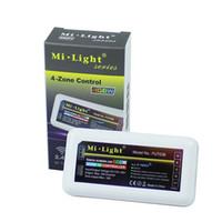 سلسلة ميل الضوء RGB + الأبيض 2.4G شاشة تعمل باللمس قاد وحدة تحكم 4-منطقة RGBW LED تحكم باهتة لاسلكية للقطاع بقيادة / لمبة