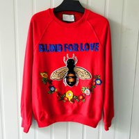 Fashion embroidery bee sequins party hoodies for wommen bran...