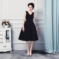 Venda quente vestidos de baile vestidos de noiva comprimento do joelho lace up back design formal vestidos de noite
