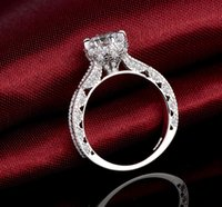 2018 New Grace Moments Clássico 1 CZ CZ Anéis De Casamento S925 Marcado Anel de Noivado Anéis De Dedo De Ouro Branco Cheio