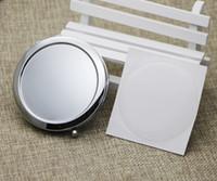 Карманное зеркало пустой макияж зеркало диаметр 58 мм увеличительное зеркало с смолой эпоксидный наклейки серебряный мироар # 18413-1 Бесплатная доставка