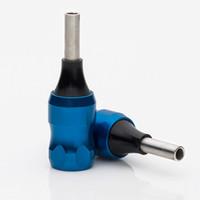 도매 - 새로운 도착 문신 기계 건 바늘 팁에 대한 다시 줄기 콤보 25mm 블루 알루미늄 문신 그립 튜브 TAG01 - BE #