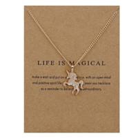 Animal colgante collares con tarjeta de oro / plata colgantes unicornio con 20 pulgadas de moda de cadena joyería Neckalce