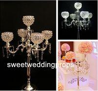 sem flores, incluindo) NEW Fashion produto quente pendurado candelabro peça central do casamento com um carrinho de flores na mesa made in china