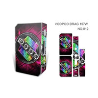 Voocoo DRAG 157W TC Scatola MOD sticker Batteria Fire Fast Speed ​​157W VOOPOO Drag Mod Powered by Dual 18650 Batterie 100% originale mod skin