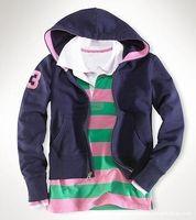 Polo Casual Hoodies 2016 Printemps Femmes Sports Sweatshirts Coton Slim Femme Capuche Vestes Lady Cardigan Coat Tops avec grand cheval