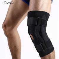 Atacado- Vertvie Outdoor Dupla Alumínio Placa Knee Pads respirável Escalada Correndo Suporte Joelho Joelho Proteção Engrenagem da segurança Sports