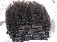 16 بوصة البرازيلي الإنسان ريمي العذراء كليب ins ملحقات الشعر الطبيعي أسود اللون مزدوجة تعادل لحمة الأفرو غريب حليقة النسيج للأزياء المرأة