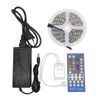 Edison2011 5M 12V SMD 5050 RGBW / RGBWW LED Bande TAPE Flexible Flexible 60ELD / M IP20 Non étanche + Remote Contrôleur IR + 12V 5A