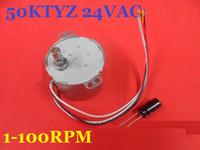 1 PCS 50KTYZ 24 V AC 8 W 1, 2,5, 5, 8, 10, 15, 20, 30, 50, 80 100 RPM, Motor de Engrenagem Síncrona de Ímã Permanente