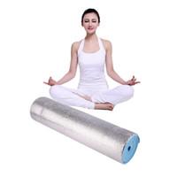 Alüminyum filmi nem geçirmez mat Kalın Yoga Mat Pad Kaymaz Kilo Kaybetmek Vücut Geliştirme Egzersiz Gym Fitness Ev Kapalı