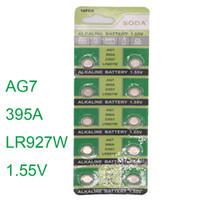 الجملة - الجملة 10PCS ووتش Batterie AG7 L927 395 SR57 SR927SW 195 ووتش خلية زر بطاريات القلوية الرجال السيدات الساعات البطارية