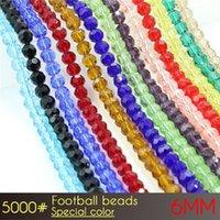 宝石緩いガラスクリスタルラウンドビーズ送料無料フットボールビーズ6mm特殊色A5000 100ピース/セット