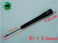 اليابانية RHINO RI-1.0 عالية الكربون الصلب المغناطيسي الدقة مشقوق مفك قطرها 1.0MM طول 15CM لإصلاح ووتش